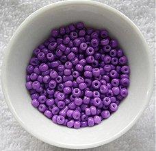 Korálky - Rokajl 3mm-20g (fialová) - 3060241
