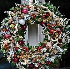 Dekorácie - jesenný s oriešky - 3061546