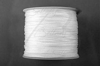 Galantéria - NAV3312, ŠNÚRKA Shamballa 1mm BIELA /1m - 3065538