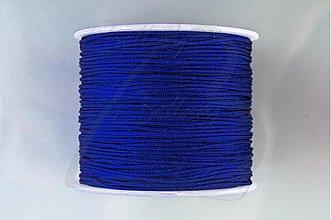 Galantéria - NAV3312, ŠNÚRKA Shamballa 1mm Tm.MODRÁ /1m - 3065549