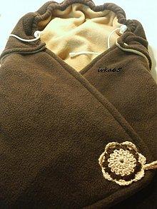 Textil - zavinovačka- čokoládovohnedá FLEES - 3066224
