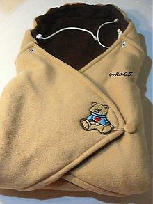 Textil - zavinovačka v béžovom FLEES - 3070328