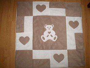 Textil - flisová deka macko,aj ako zavinovačka.. - 3075608