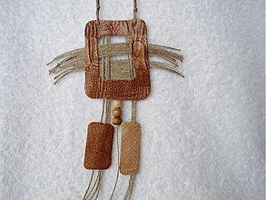 Náhrdelníky - Náhrdelník kožený, pre divožienku - 3075989