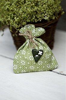 Darčeky pre svadobčanov - Vrecúško zelené - 3077281