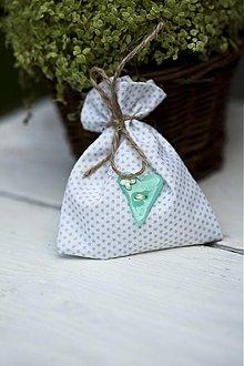 Darčeky pre svadobčanov - Vrecúško biele - 3078759