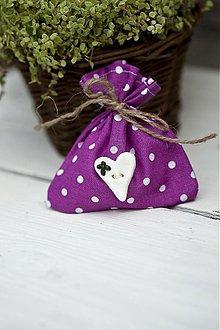 Darčeky pre svadobčanov - Vrecúško tmavo ružové - 3078784
