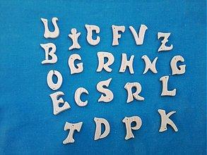 Tabuľky - drevené prívesky, písmenká- Abeceda - 3080503