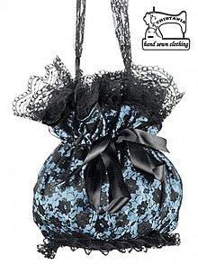 Kabelky - Čipková kabelka so saténom - pompadúrky 0300 - 3082057