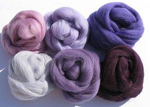 Textil - Merino vlna - fialový baklažán 60 g - 3086356