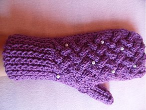 Rukavice - rukavičky obsypané perlami - 3088098