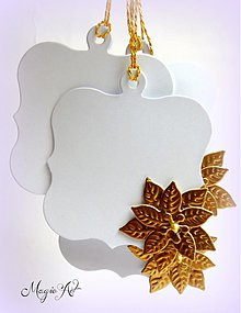Papiernictvo - Darčekové kartičky - Zlatá ruža - 3088161