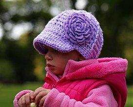 Detské čiapky - fialka č.2 - 3090657