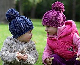 Detské čiapky - ružová brmbolcovka - 3090927
