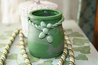 Svietidlá a sviečky - svietnik zelený - skladom - 3093516