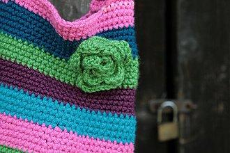 Veľké tašky - Veselá háčkovaná taška - 3095719