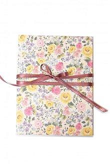 Papiernictvo - Dosky A5 s kvetinovým motívom - Rose - 3100483