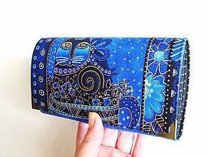 Peňaženky - Luxusní Šelmička v modré II - 16 x 10,5 - 3101835