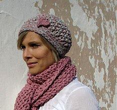 Čiapky - pink or grey? čiapka - 3102260