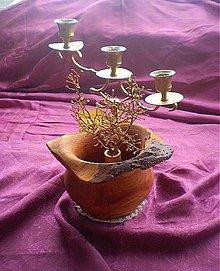 Dekorácie - Prírodná váza s kôrou zo slivky - 3103582