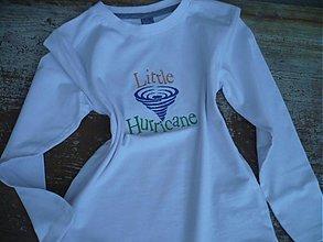 Detské oblečenie - tričko ,, LITTLE HURICANE