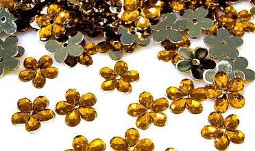 Galantéria - kvetina plast oranžová - 3106583