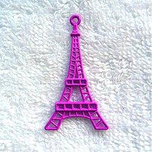 Komponenty - KPr-Eiffelovka 44x24mm-1ks (fialová) - 3106810
