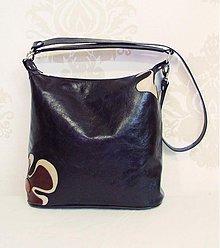 Kabelky - Kožená kabelka Maťka s kvetom - 3106846