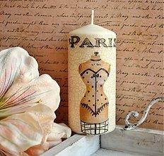 Svietidlá a sviečky - Vintage sviečka Paris Grand Salon - 3107712