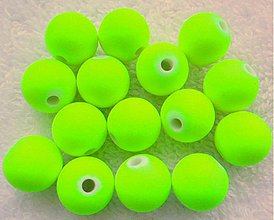 Korálky - MATT plast 12mm-žltá-1ks - 3111463
