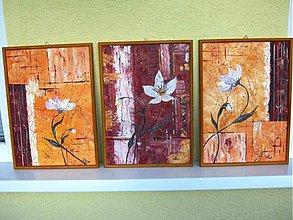 Obrazy - obrazy: abstrakt- séria 3 obrazov - 3113367