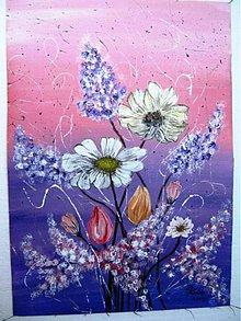 Obrazy - fialové kvetinkovo - 3113520