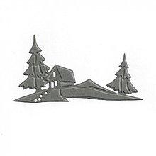 Papier - S405 Výseky z papiera - Domček, 1 ks - 3113655