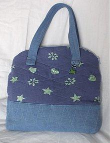 Kabelky - modrá riflová taška - 3117522