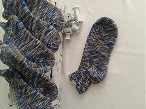 Obuv - Ponožky členkové-75%vlna - 3117833