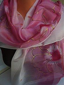 Šatky - bordové kvety - 3117902