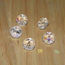 Korálky - 0315 Brúsené rondelky - číre s AB, 12x8,5 mm, 1 ks - 312077