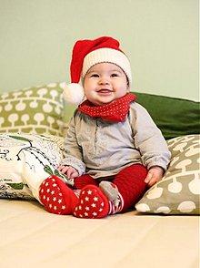 Detské čiapky - Vianočná čiapka - 3122166