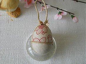 Dekorácie - Vajíčko - béžové - 3127631