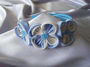 Ozdoby do vlasov - Modrá čelenka - 3128590