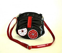 Kabelky - LOVABLE BAG 19 červený popruh - 3131697