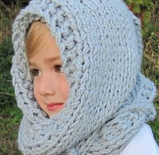Detské čiapky - KapuCňoŠáL pre dievčatká - 3131755