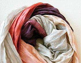 Šály - PODZIMNÍ...lososově fialová...hedávbná šála 90x200 - 3136844