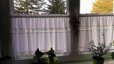 Úžitkový textil - Záclonky s čipkou  - 3144054