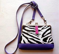 Kabelky - fialová zebra - 3144173