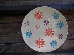 Nádoby - Tanier Kvety   26cm - 3144175