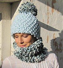 Čiapky - zima je bledomodrá...a brmbolcová - 3148779