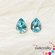 Korálky - SLZA 14 SWAROVSKI ® ELEMENTS 4320 tyrkys - 3151797