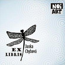 Nezaradené - Pečiatka Ex Libris Vážka - 3154346