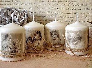 Svietidlá a sviečky - Sada 4 vintage sviečok - 3159210